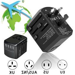 Universal Travel Adapter Wall Charger AC Power Converter Out