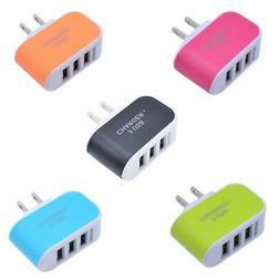 US/EUPlug USB Wall Power Adapter Charger AC 5V 3.1A 3 Ports