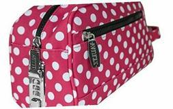 Vaultz Locking Nylon Travel Kit, 10 x 5.75 x 5 Inches, Pink/