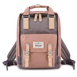Waterproof Backpack Vintage School Travel Laptop Bag Clothin