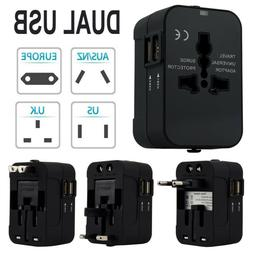 World Universal Travel Adapter With Dual USB Convertor Wall
