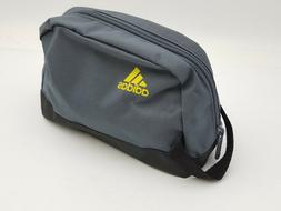 Adidas Zippered Small Travel Bag Blue Gray Charcoal Neon Yel
